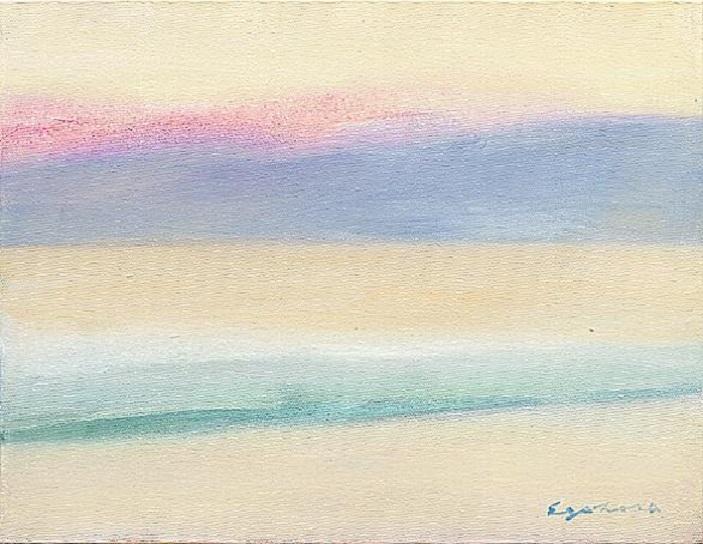 夕日が映える橋立の海