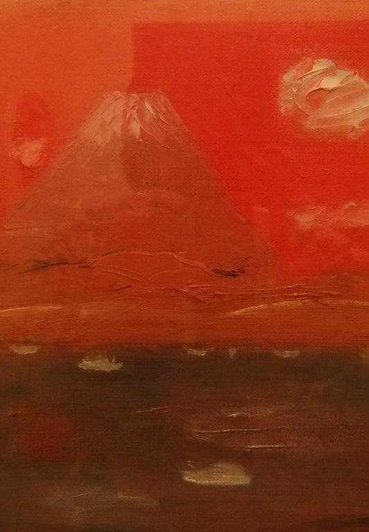 女富士の夕焼け