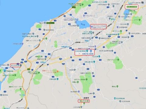 加賀旅行二日目マップ