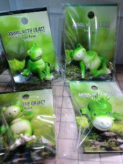 アニマルモチーフオブジェクト 雨蛙