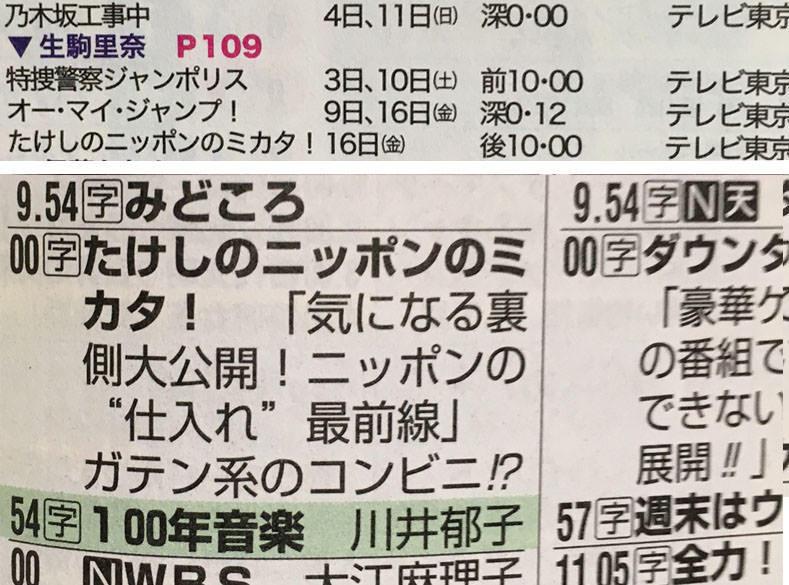 たけしのニッポンのミカタ! 生駒里奈