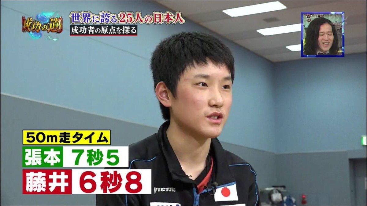 藤井聡太 50m 6秒8