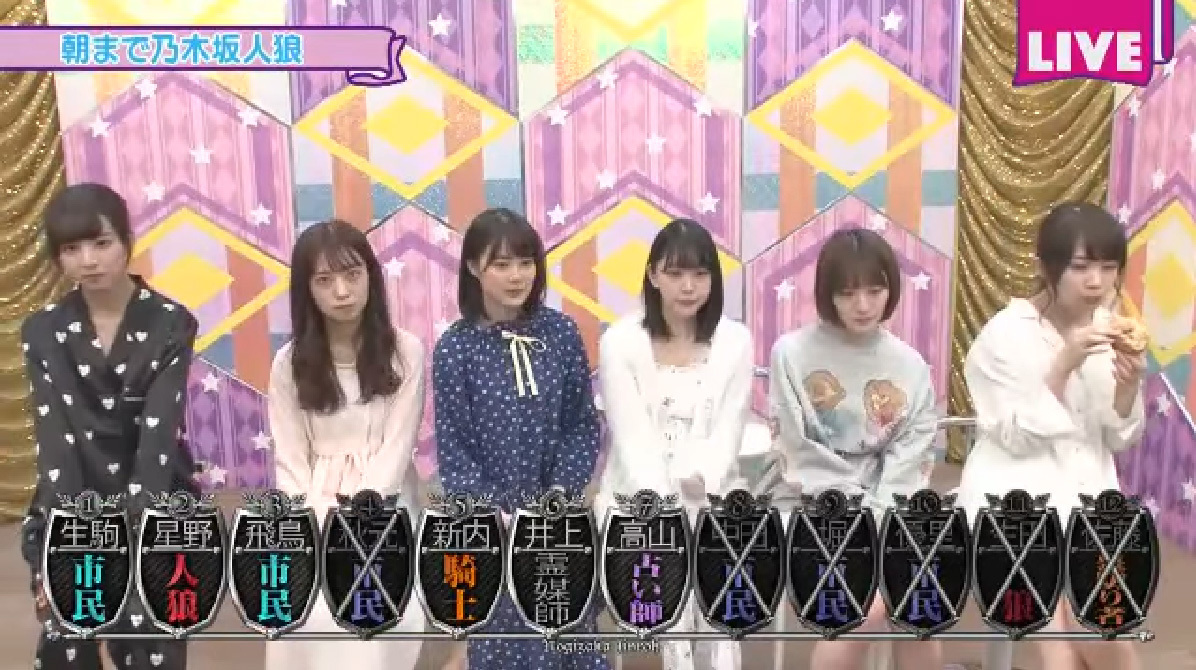 乃木坂46時間TV 朝まで乃木坂人狼 1回戦