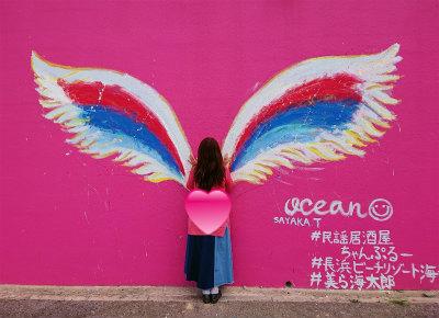 沖縄天使の羽壁絵2-crop