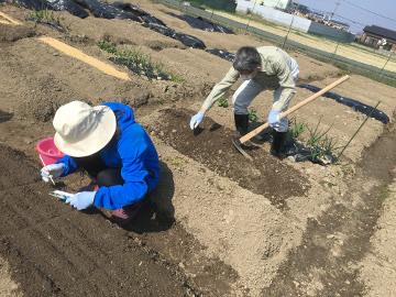 種蒔き指導と春いっぱい4