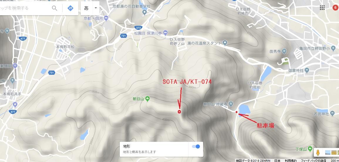 2018朝日山/地図