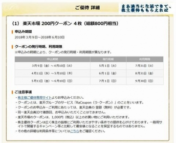 楽天 優待案内 サイト04 201712