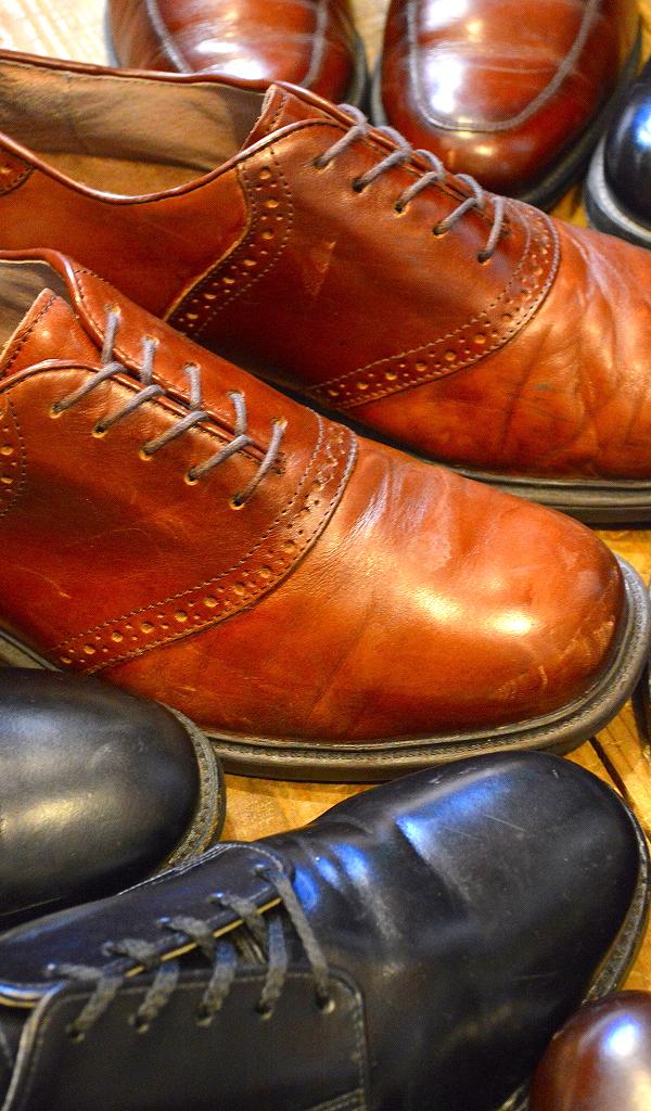 レザーシューズ革靴レザーブーツ画像メンズレディースコーデ@古着屋カチカチ06