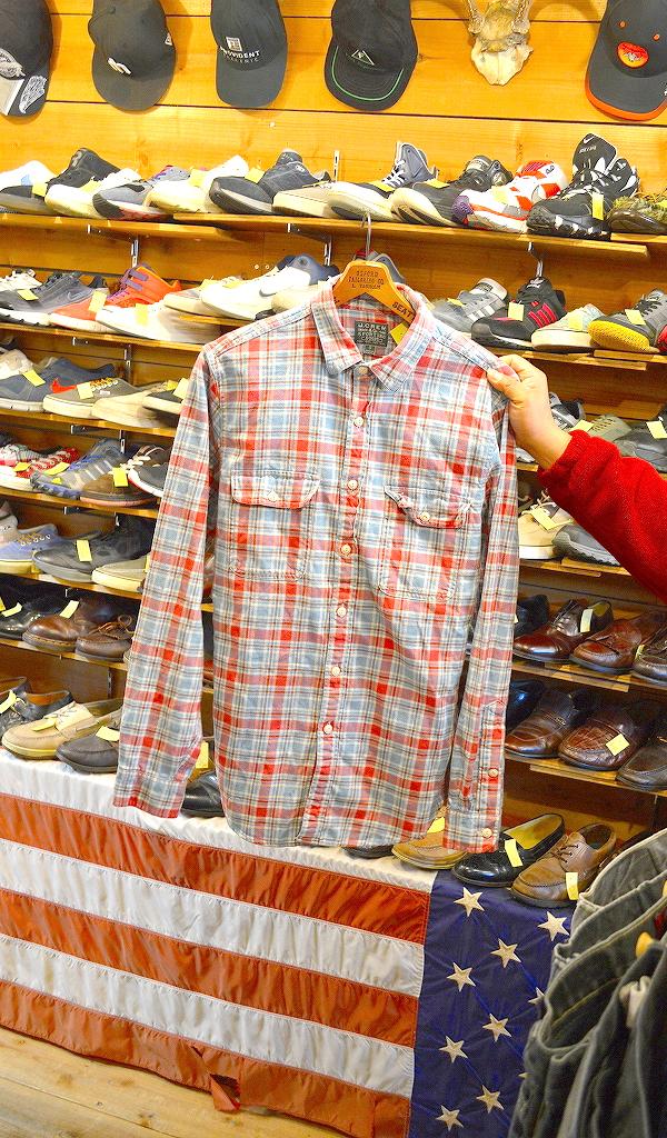 フランネルシャツ画像チェックシャツUSEDアメカジコーデ@古着屋カチカチ02