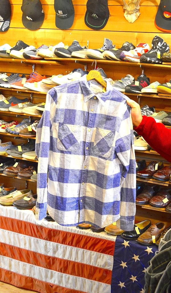 フランネルシャツ画像チェックシャツUSEDアメカジコーデ@古着屋カチカチ01