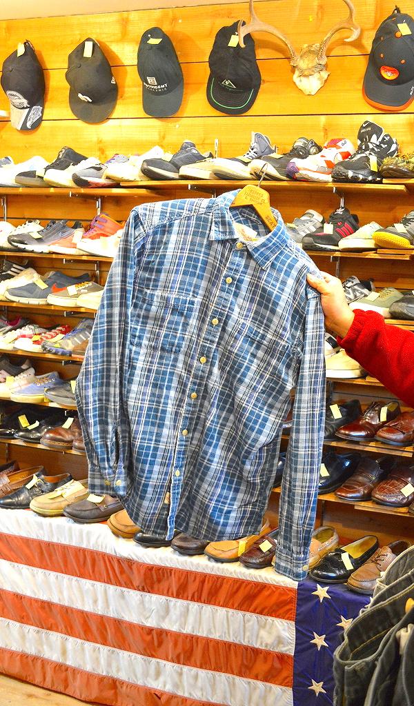 フランネルシャツ画像チェックシャツUSEDアメカジコーデ@古着屋カチカチ06