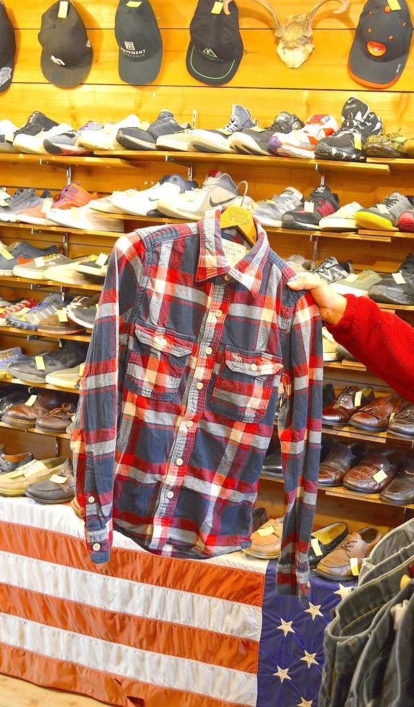 フランネルシャツ画像チェックシャツUSEDアメカジコーデ@古着屋カチカチ03