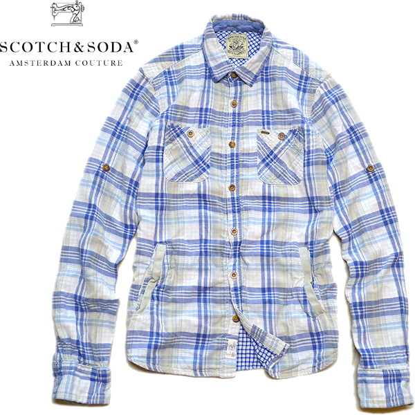 USEDチェックシャツ画像メンズレディースコーデ@古着屋カチカチ05
