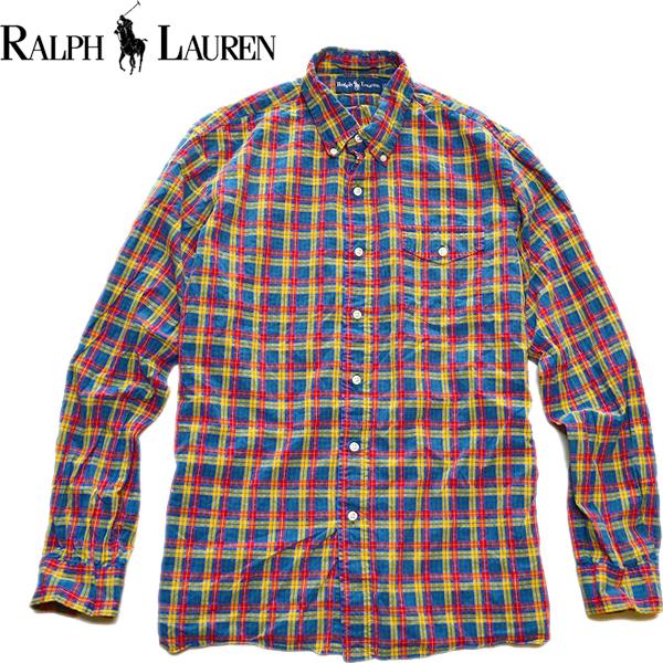 POLOポロラルフローレンRalph Lauren長袖チェックシャツ画像メンズレディースコーデ@古着屋カチカチ03