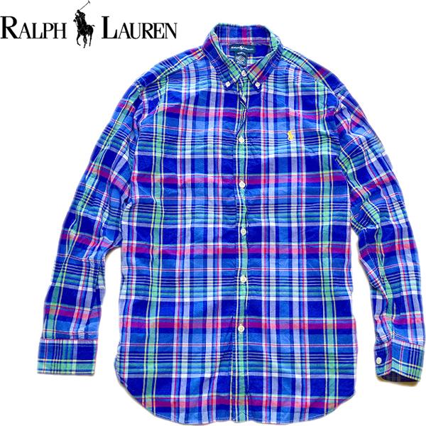 POLOポロラルフローレンRalph Lauren長袖チェックシャツ画像メンズレディースコーデ@古着屋カチカチ02