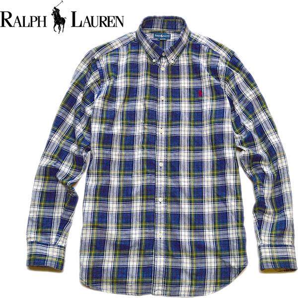 POLOポロラルフローレンRalph Lauren長袖チェックシャツ画像メンズレディースコーデ@古着屋カチカチ04
