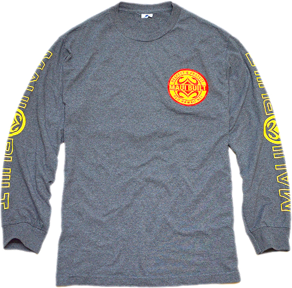 袖プリント長袖ロンTシャツ画像メンズレディーススタイルコーデ袖ロゴ@古着屋カチカチ02