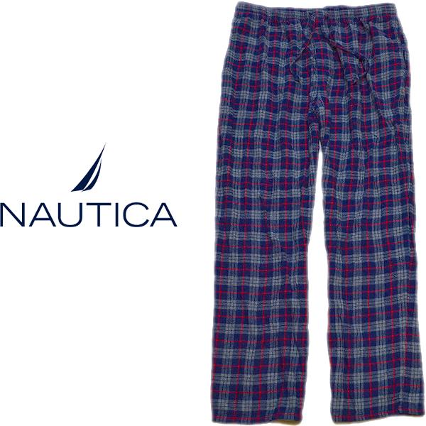 ノーティカNauticaチェック柄パジャマパンツ画像メンズレディーススタイルコーデ@古着屋カチカチ07