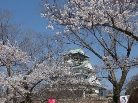 西の丸庭園からの大坂城