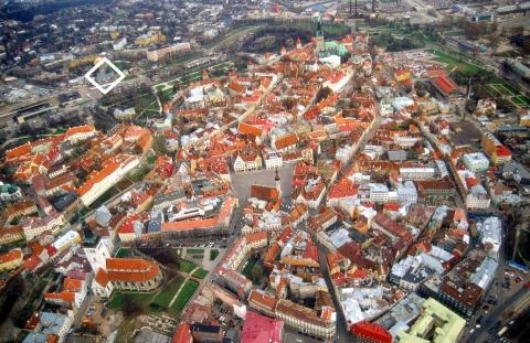 上空からのタリン旧市街