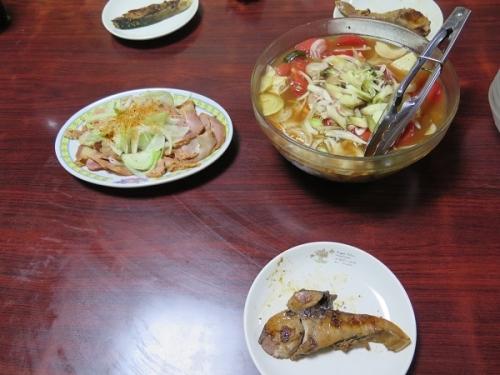ぶり照り焼き、チャーシューオニオンのせ、揚げびたしリニューアル(+豆腐エノキ)