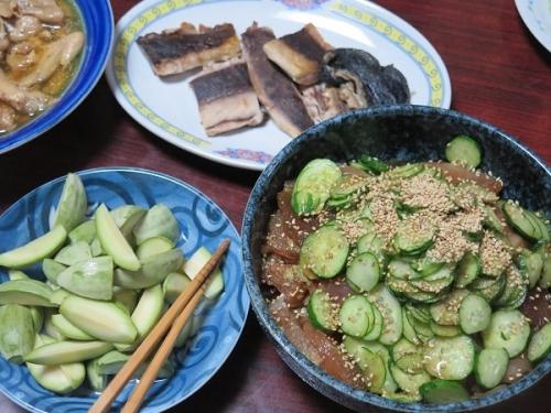 和歌山のマグロの漬け、マグロの血合い塩焼き