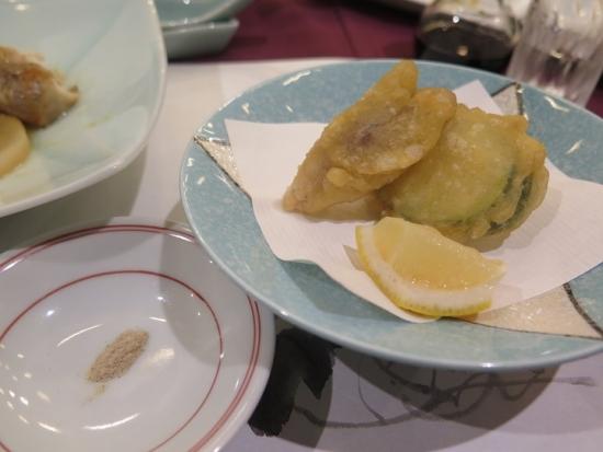 揚物 野沢菜と季節野菜の天ぷら