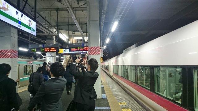 水戸駅の梅迎え (2)