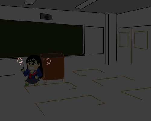 こじるる ミニ ハァ 教室  暗い