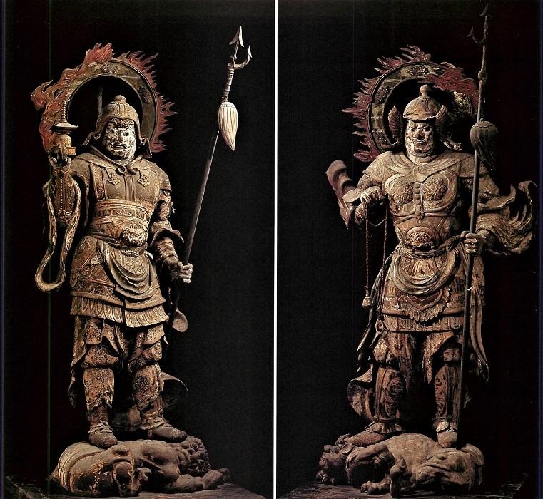 仮金堂から原所在の南円堂に戻された四天王像~康慶作