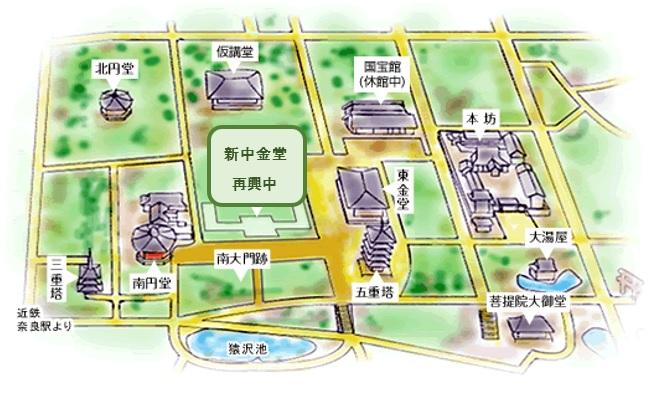 興福寺の伽藍略絵図