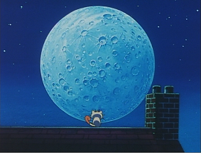 月はどうして丸いのにゃ