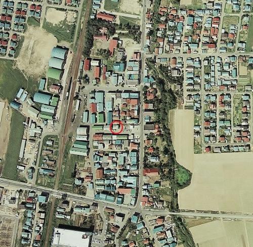 空中写真 1976年 篠路 食糧事務所周辺