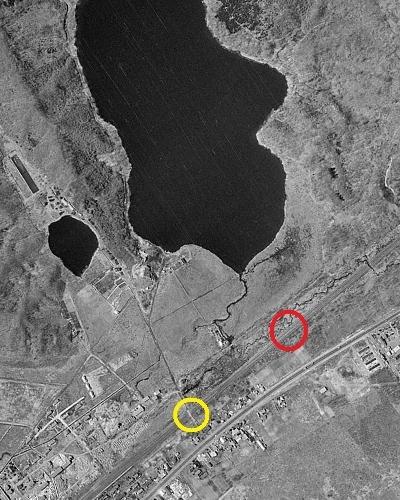 空中写真 1963年 白老 ポロト湖