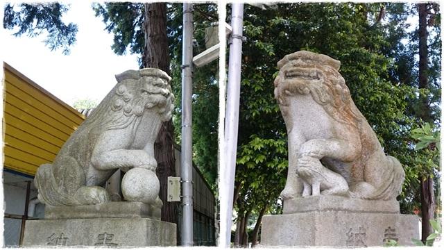 油縄子八幡神社・狛犬