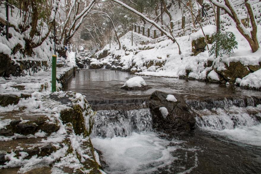 雪の貴船散歩 (1)