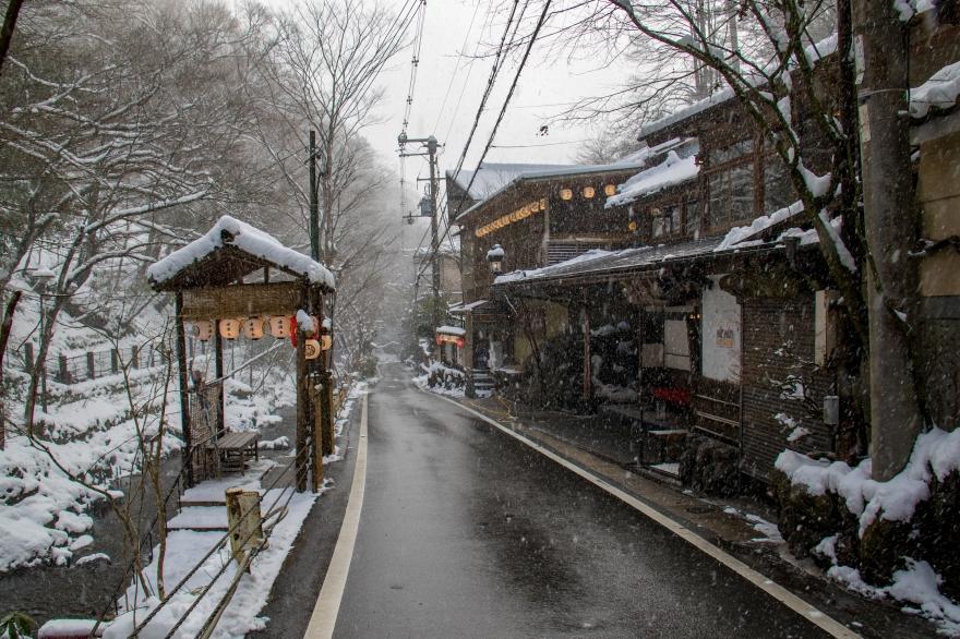 雪の貴船散歩 (2)
