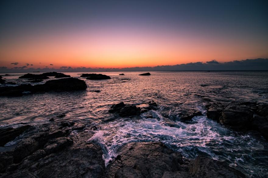 夜明けの海 田原海岸 (1)
