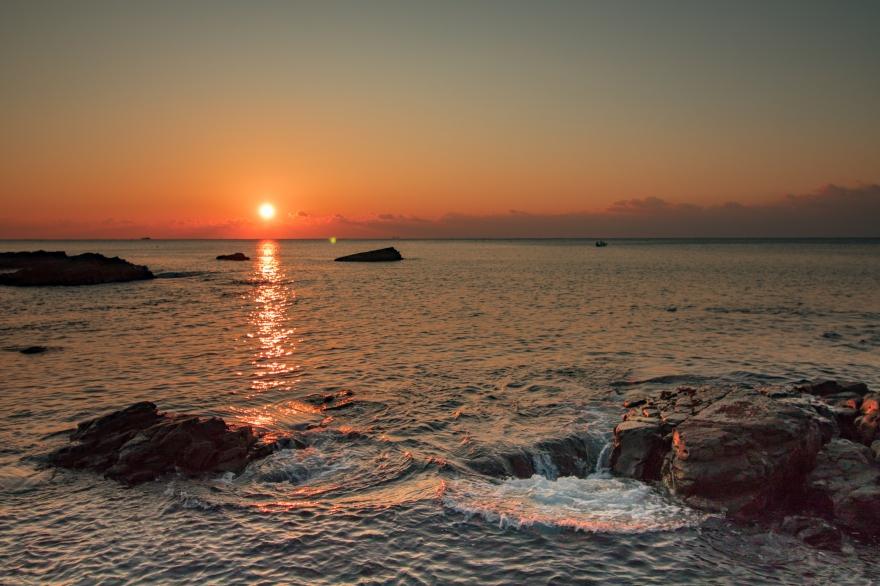 夜明けの海 田原海岸 (2)