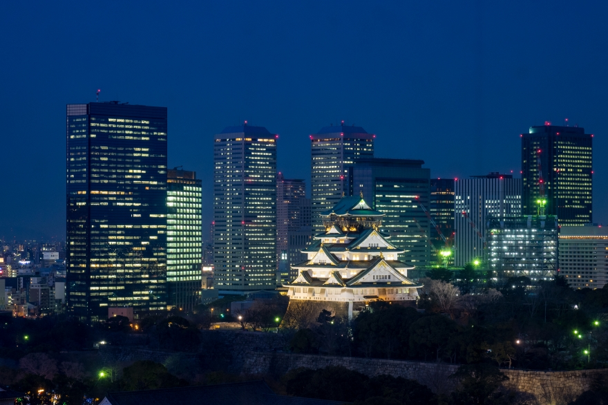 大阪城とOBPビル群 (1)