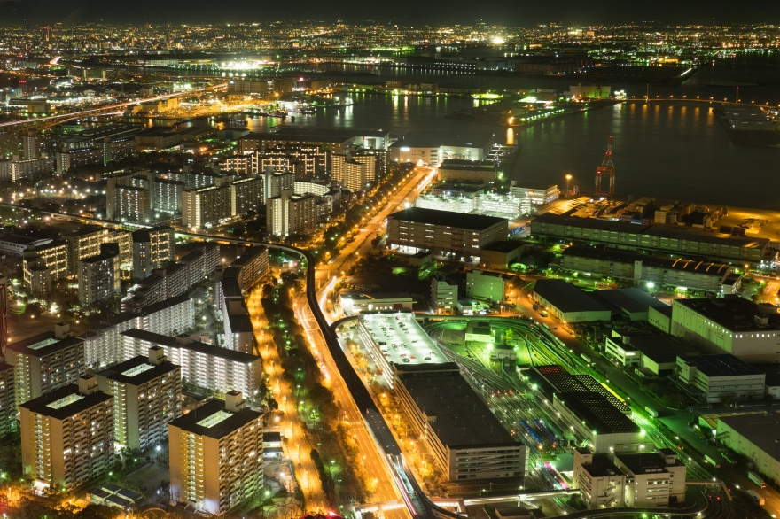 咲洲庁舎展望台 堺方面