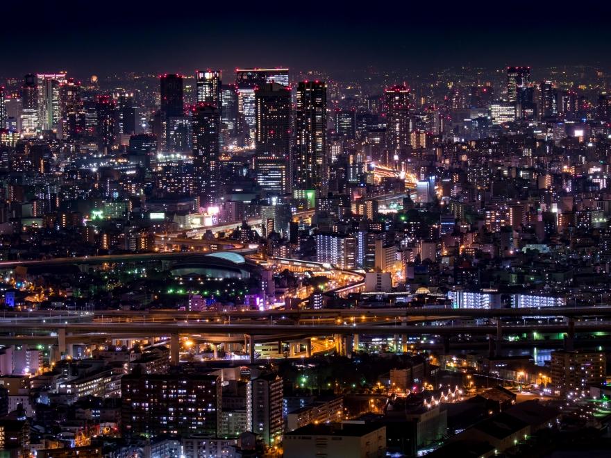 大阪市街地夜景