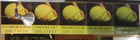 抹茶の濃さを選べる抹茶アイス
