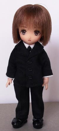 [からすねこ] オビツ11用 スタンダードスーツ 黒
