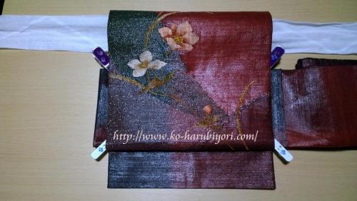 小春流作り帯(ワイヤー使用)●袋帯の作り方動画用サムネイル写真