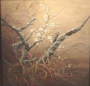 「春の香り」日本画