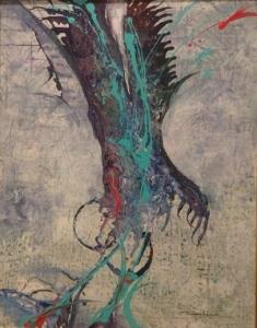 奨励賞「魂の樹」油彩画