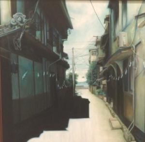 銅賞「海と陰影」油彩画