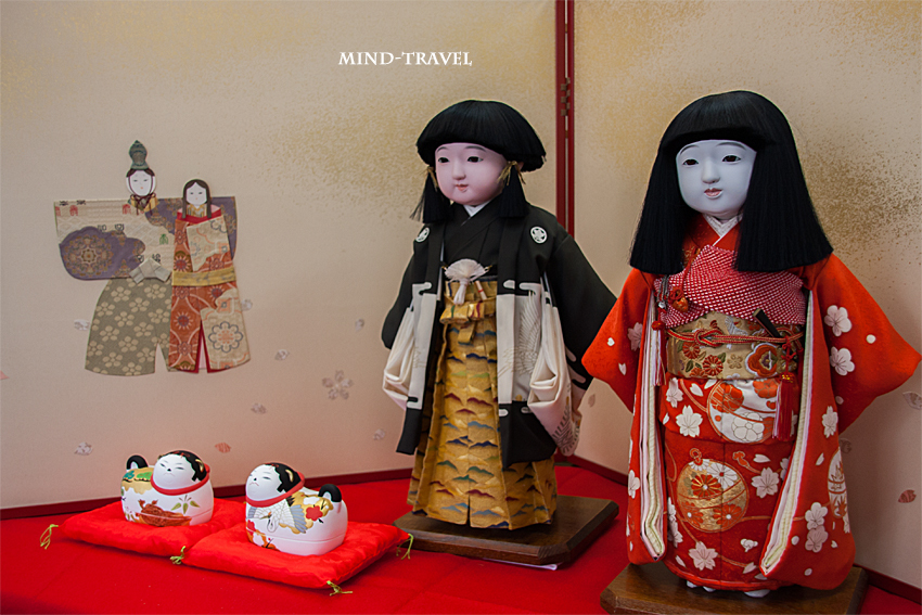 大和な雛祭 市松人形 男の子と女の子