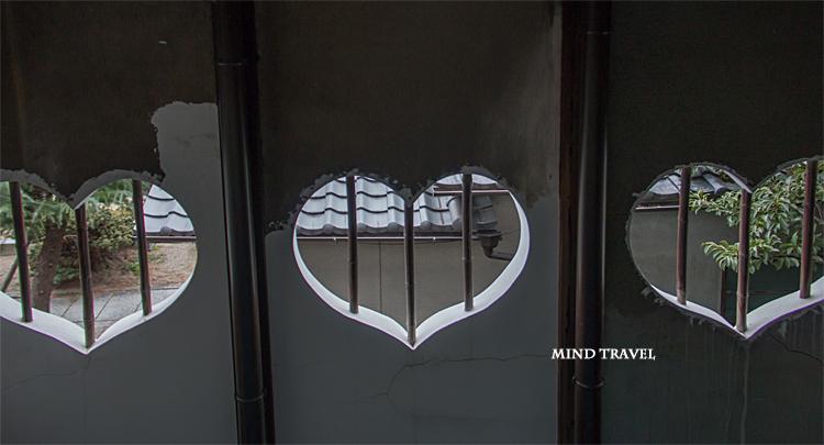 大和な雛祭 町屋物語館 ハート型の窓